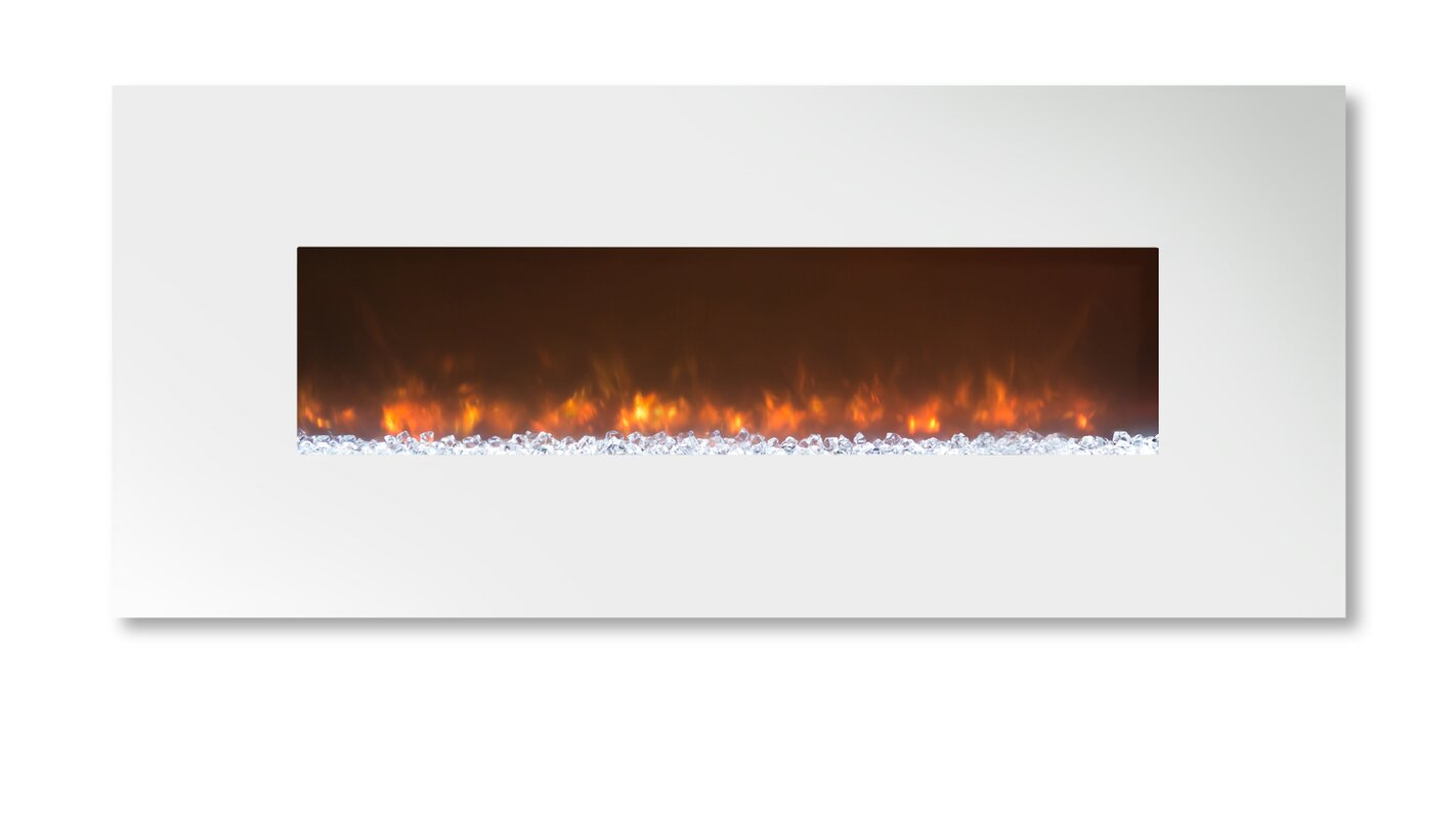 modern flames ambiance custom linear delux 2 wall mount electric