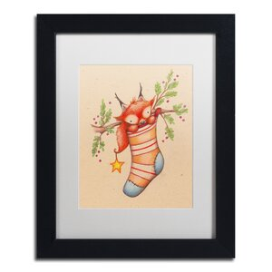 'Merry Christmas Little Fox' by Jennifer Nilsson Framed Graphic Art