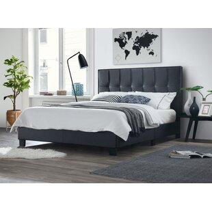 Ireland Queen Faux Leather Bed   Wayfair