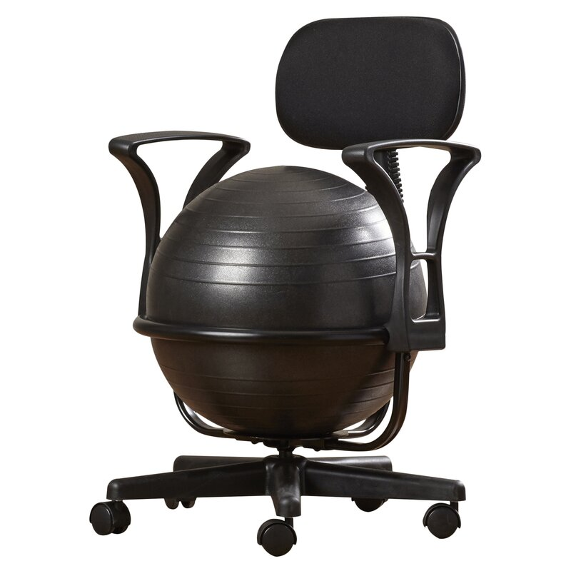 symple stuff exercise ball chair & reviews | wayfair