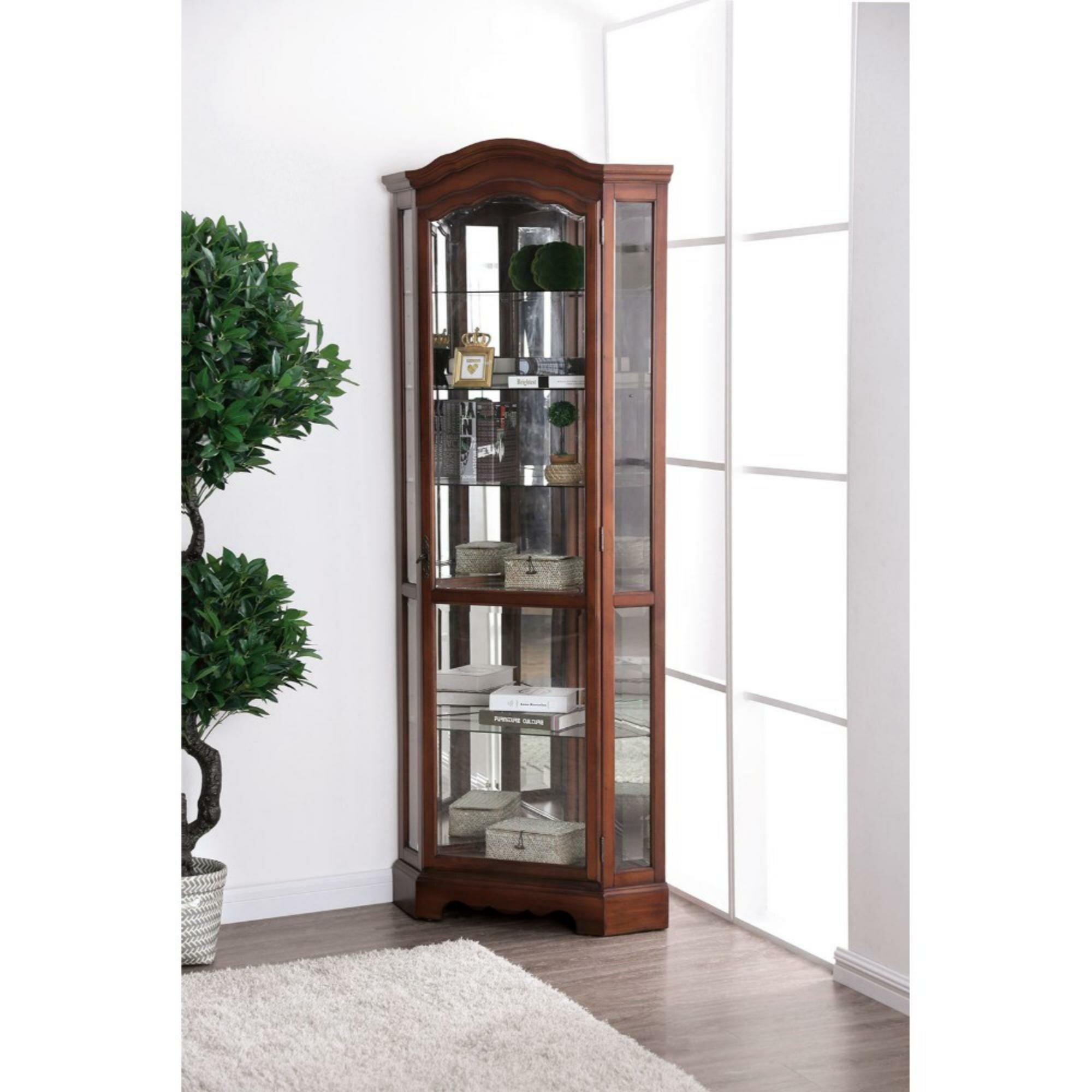 Lederer Traditional Style Wooden Corner Cabinet