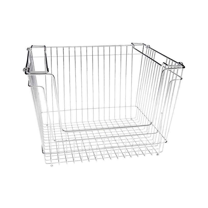 Superbe Stackable Extra Large Storage Wire Basket