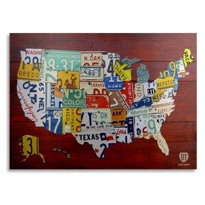 World Map Wall Art - Usa map design