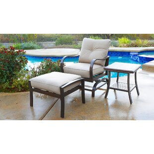 Patio Chairs With Ottomans | Wayfair