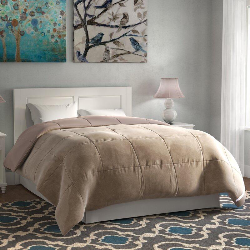 Broncho Flannel Microfiber Goose Down Alternative Comforter
