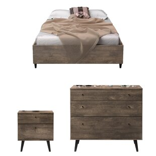 norloti queen platform configurable bed set - Mid Century Modern Bedroom Set