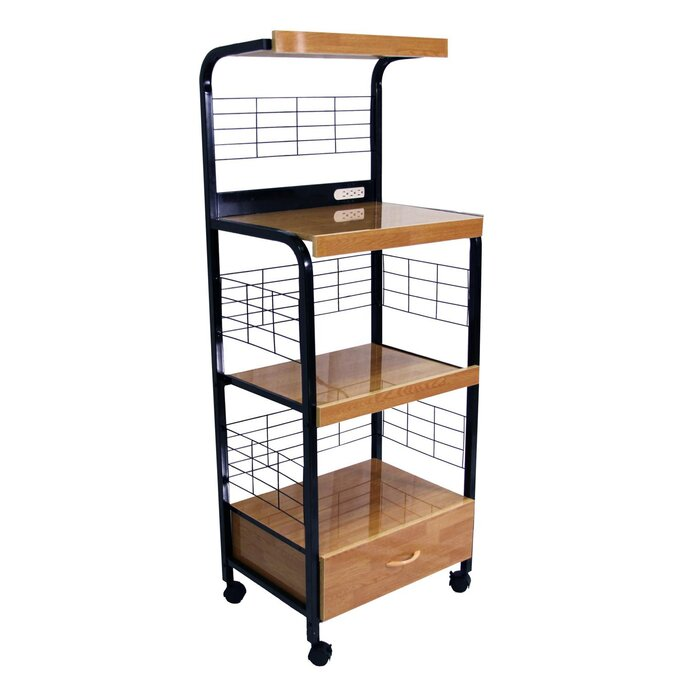 Microwave Cart With Birch Top