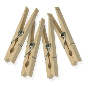 Spring Classic Wood Clothes Pin (Set of 24)