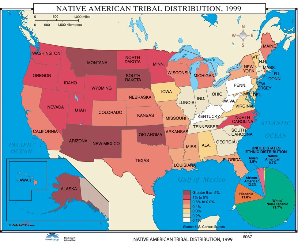 Universal Map US History Wall Maps Native American Tribal - Map of us tribes