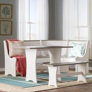 Monroe 3 Piece Nook Dining SetGrey Kitchen   Dining Room Sets You ll Love   Wayfair. Gray Dining Sets. Home Design Ideas
