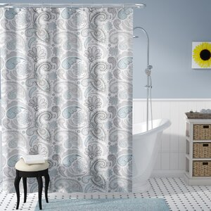 Cogar Paisley Cotton Shower Curtain