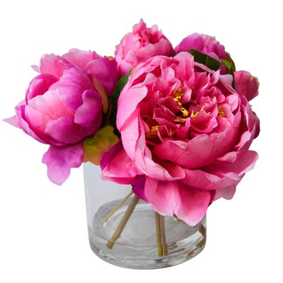 T&C Floral Company Fresh Cut Faux Peony Color: Pink