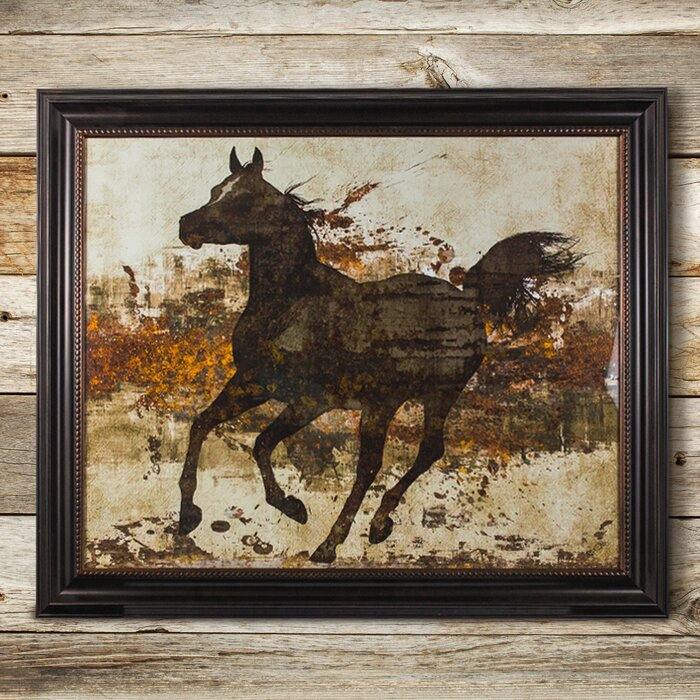 CYRG \'Running Horse\' Framed Painting Print on Canvas & Reviews ...
