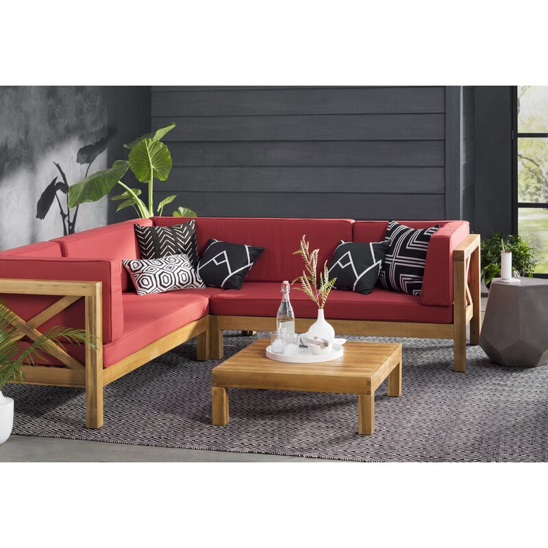 Ordinaire Lejeune 4 Piece Sofa Set With Cushions