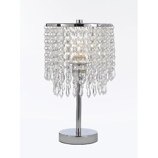 Round shaped table lamps youll love wayfair mulder round crystal 14 table lamp aloadofball Image collections