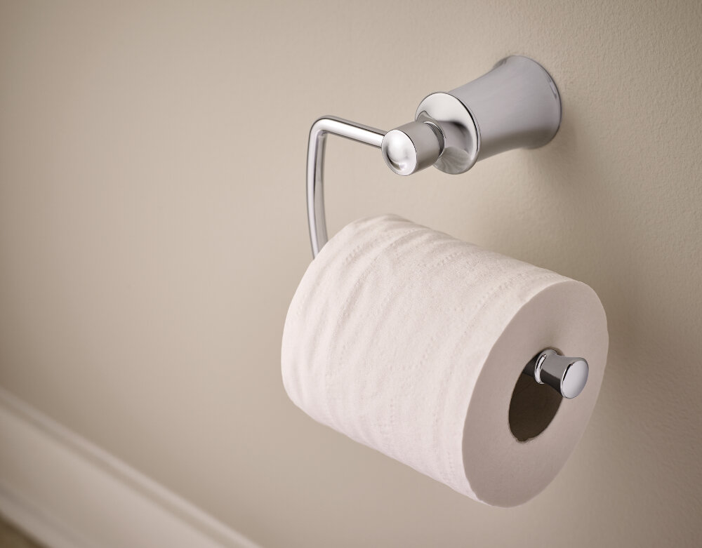 Toilet Paper Holder : Yb2108ch bn orb moen dartmoor wall mount toilet paper holder