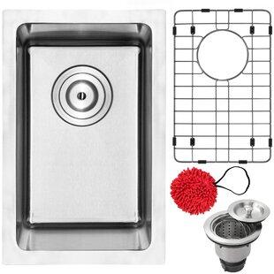 Blanco sink accessories wayfair arlo stainless steel 12 x 17 undermount kitchen and bar sink with accessories workwithnaturefo