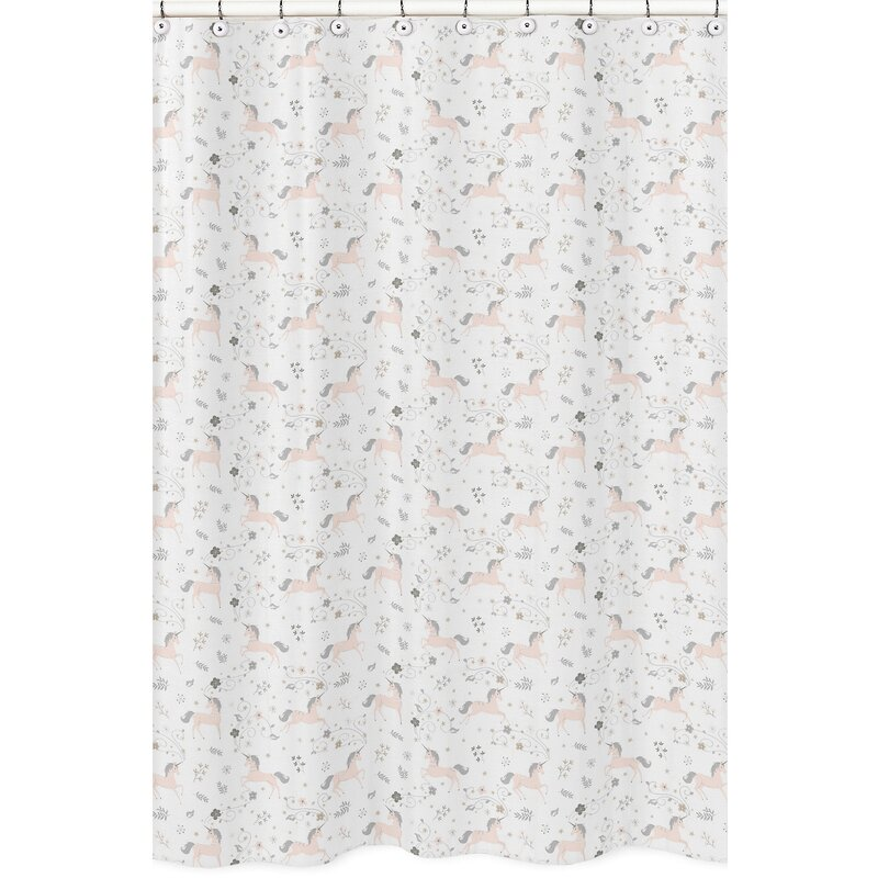 Sweet Jojo Designs Unicorn Shower Curtain