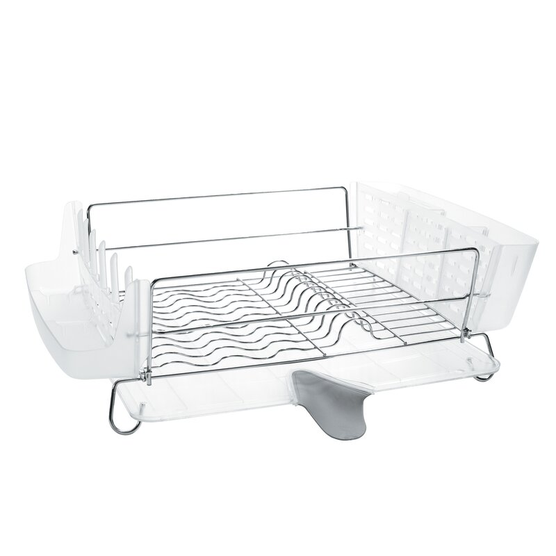 Oxo Good Grips Folding Stainless Steel Dish Rack Classy OXO Good Grips Folding Stainless Steel Dish Rack Reviews Wayfair