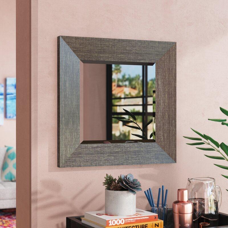Ivy Bronx Cozad Square Wood Frame Wall Mirror & Reviews | Wayfair