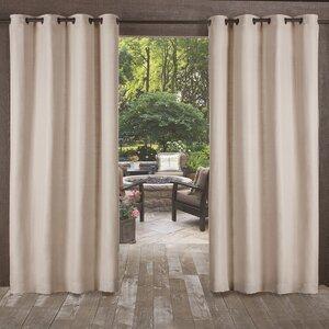 Lythrodontas Heavy Textured Solid Outdoor Room Darkening Grommet Curtain Panels (Set of 2)
