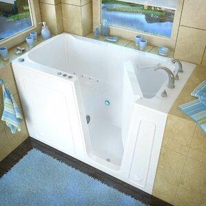 Aspen 60  x 32  Walk In Air Jetted BathtubWalk In Tubs You ll Love   Wayfair. Lay Down Walk In Bathtub. Home Design Ideas
