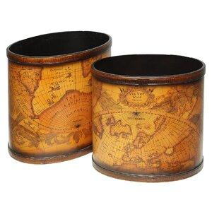 2-tlg. Papierkorb-Set Marco Polo von Ambiente Haus