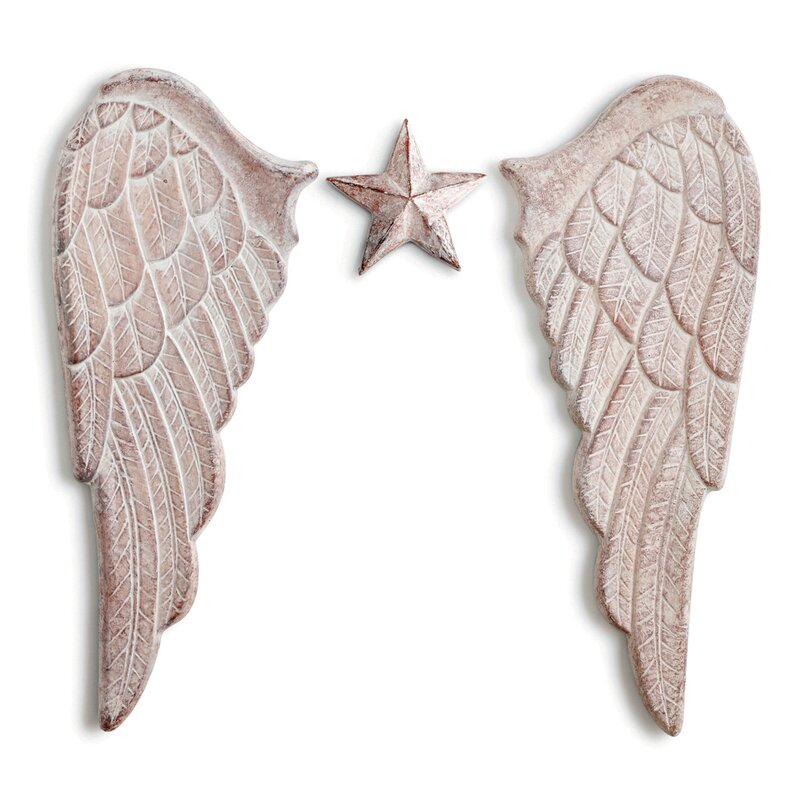 Wings Wall Decor demdaco silvestri everyday angel wings wall décor & reviews | wayfair