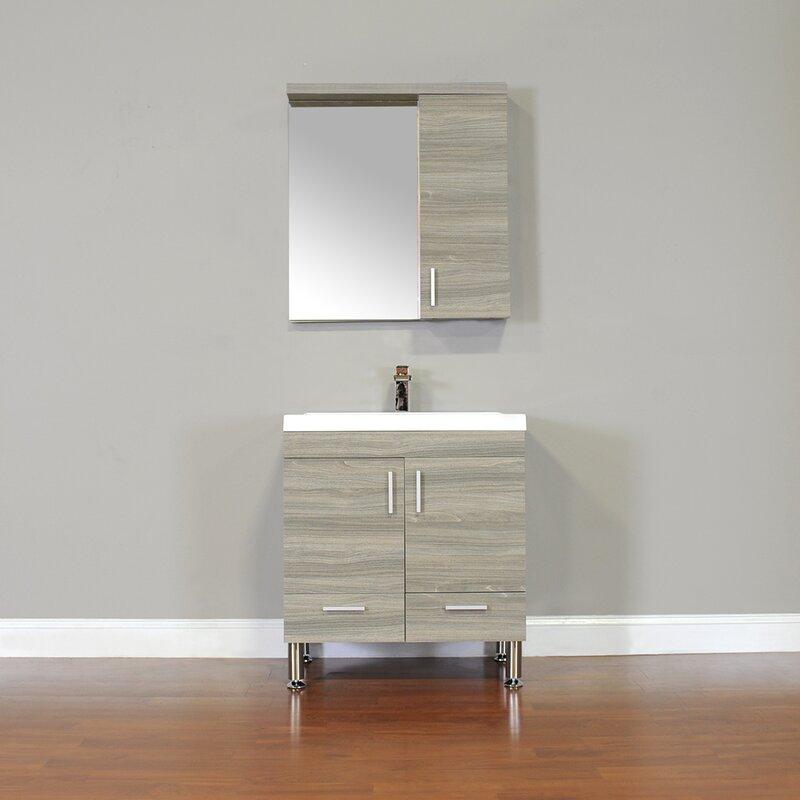 Wade Logan Waldwick 30 Quot Single Modern Bathroom Vanity Set