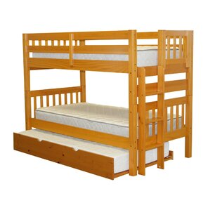Mission Twin over Twin Bunk Bed with Trundle by Bedz King