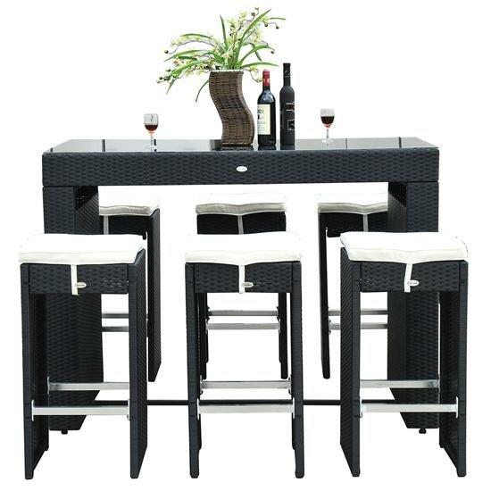 Mercury Row Haddox 7 Piece Bar Height Dining Set With