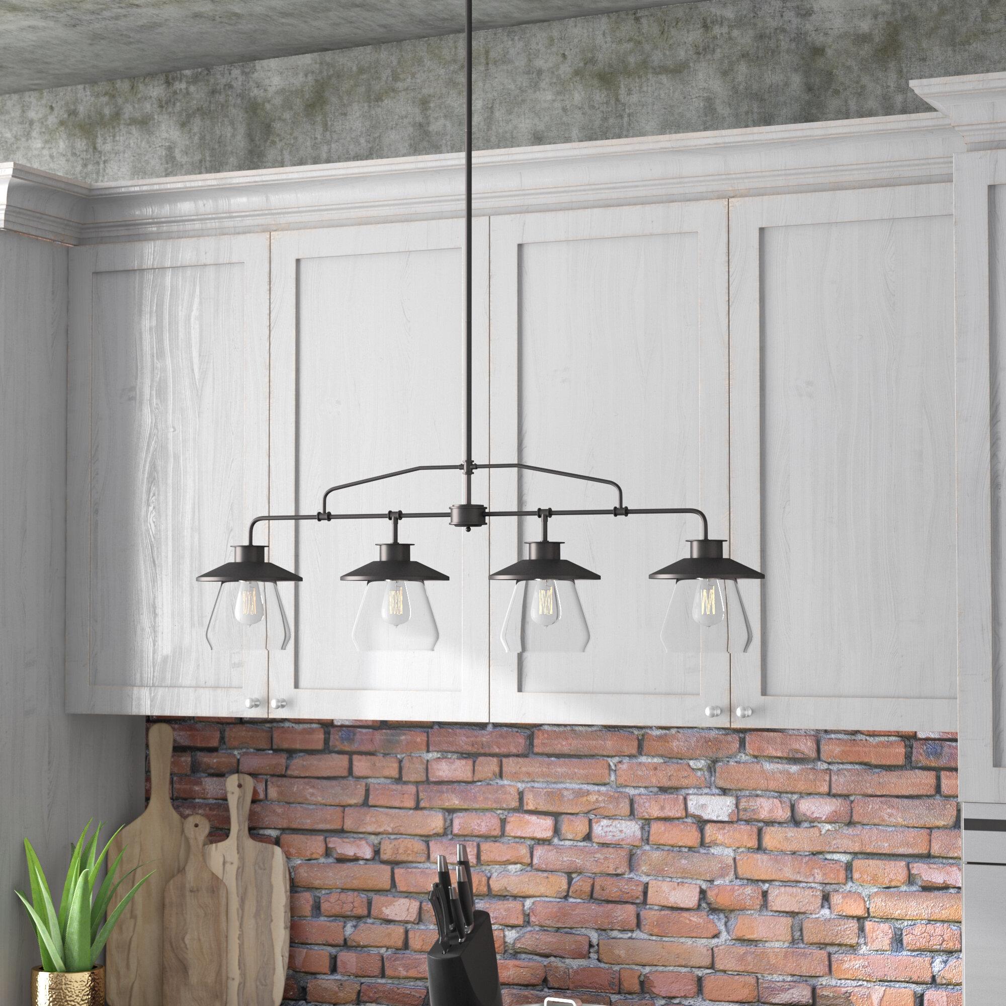 Trent Austin Design De Long 4-Light Kitchen Island Pendant & Reviews ...