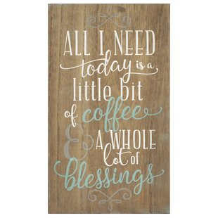 Coffee And Blessings Wall Art