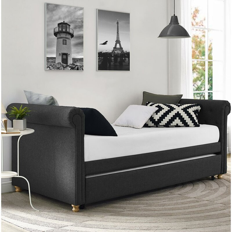 Bedroom Colours Photos Bedroom Entrance Bedroom Lighting Wayfair Bedroom Sitting Area: Three Posts Rossburg Daybed With Trundle & Reviews