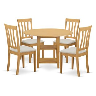 Tyshawn 5 Piece Drop Leaf Breakfast Nook Solid Wood Dining Set Top Reviews