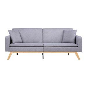 Modern Tufted Linen Splitback Recliner Sofa by Madison Home USA