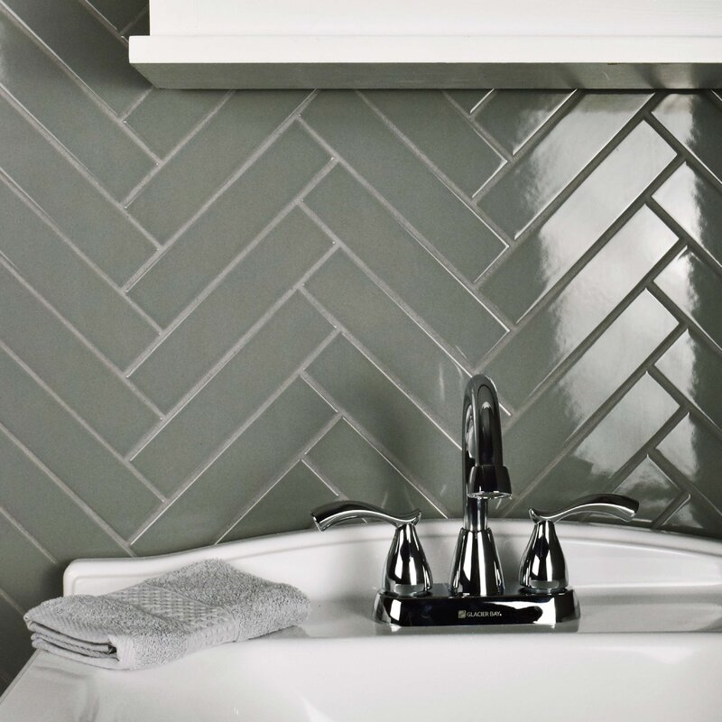 Retro1 75 X 7 Porcelain Subway Tile In Glossy Gray