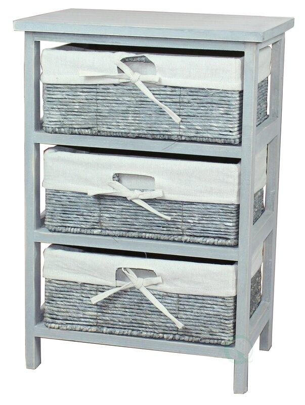 Wooden Storage Cabinet 3 Drawer Accent Chest