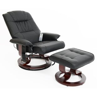 Massage Heat Swivel Recliner And Footstool