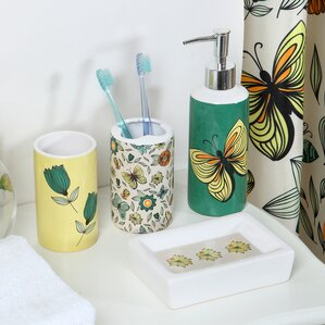 flutter 18piece bathroom accessory set
