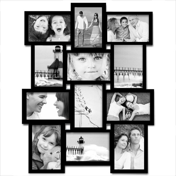 AdecoTrading 12 Opening Wood Photo Collage Wall Hanging Picture ...