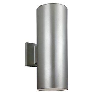 Outdoor wall lighting modern contemporary designs allmodern bullets 2 light outdoor sconce workwithnaturefo