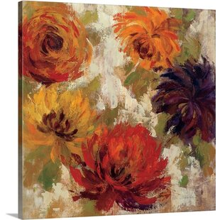 d4698ac725a  Fiery Dahlias II  by Silvia Vassileva Painting Print on Canvas