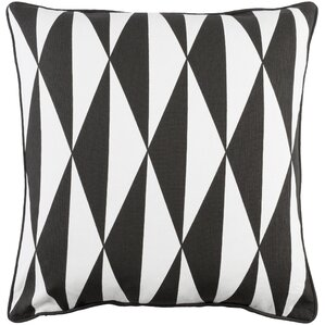 antonia modern square cotton throw pillow cover black white