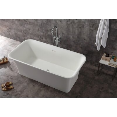Aquatica PureScape Freestanding Soaking Bathtub  Reviews Wayfair - Rectangular freestanding soaking tub
