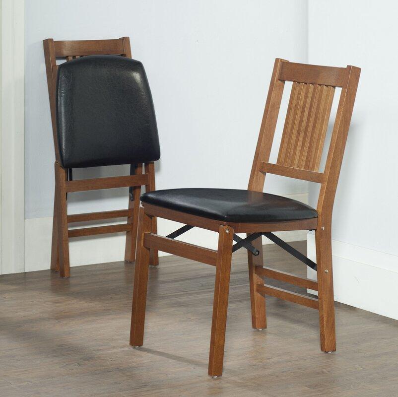 Csn Furniture: Red Barrel Studio Berkshire Wood Folding Chair With Vinyl