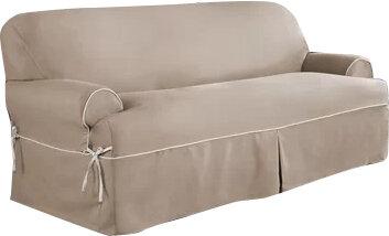 serta twill t cushion sofa slipcover reviews wayfair - Slipcover Sofa