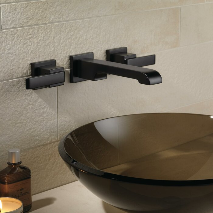 thermostatic faucet tub shower front mount handles with bathroom handspray and hand wall brushed whittington modern couplers nickel lever