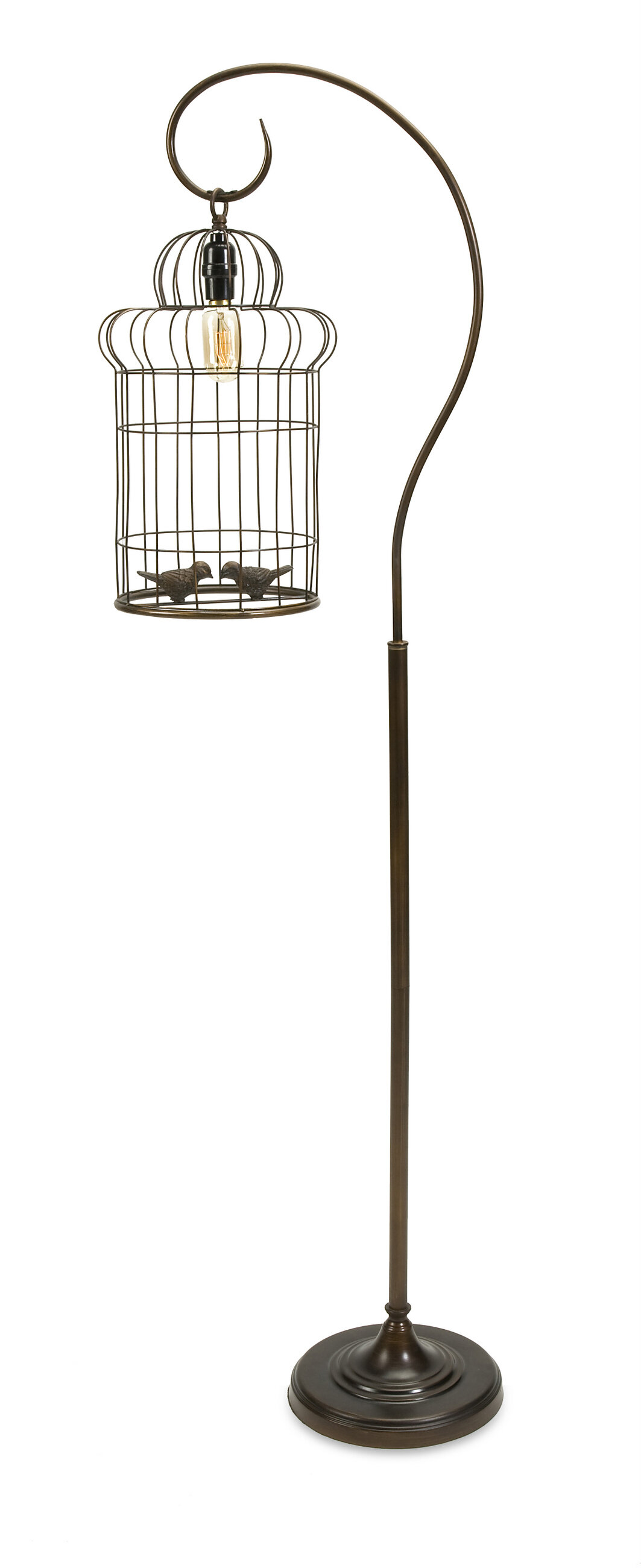 birds lamp bird table light beautiful birdcage