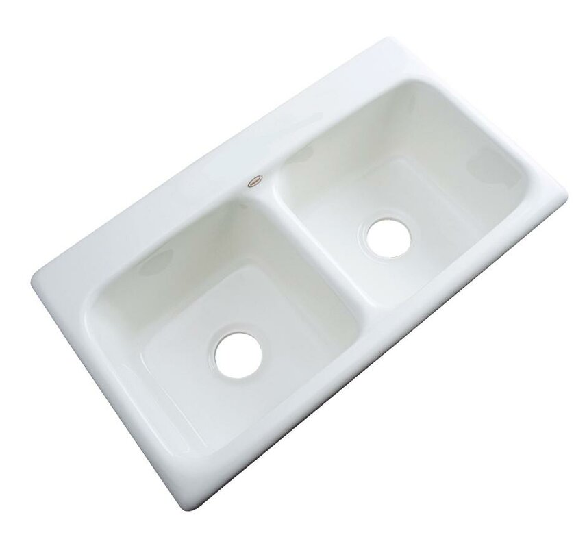 portland 33   x 19   kitchen sink solidcast portland 33   x 19   kitchen sink  u0026 reviews   wayfair  rh   wayfair com